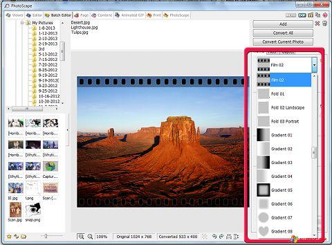 Képernyőkép PhotoScape Windows XP