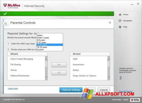 Képernyőkép McAfee Windows XP