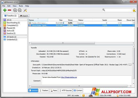 Képernyőkép qBittorrent Windows XP