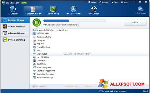 Képernyőkép Wise Care 365 Windows XP