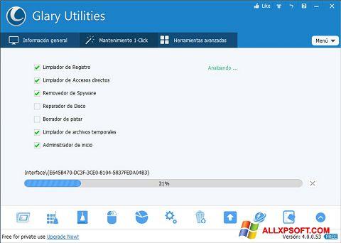 Képernyőkép Glary Utilities Windows XP