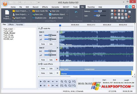 Képernyőkép AVS Audio Editor Windows XP