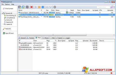 Képernyőkép BitTorrent Windows XP