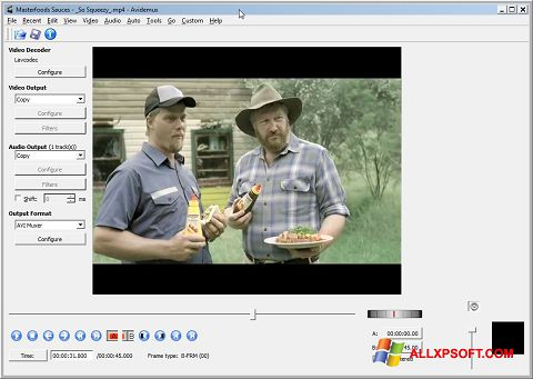Képernyőkép Avidemux Windows XP