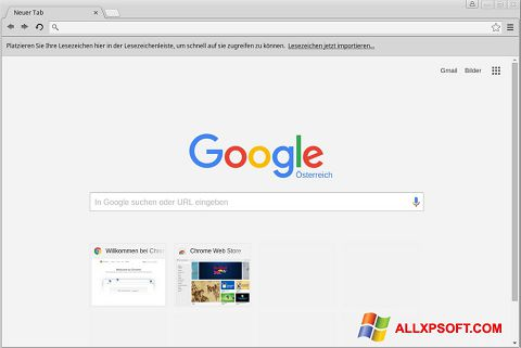 Képernyőkép Google Chrome Windows XP