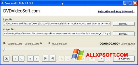 Képernyőkép Free Audio Dub Windows XP