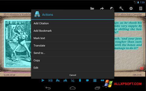 Képernyőkép AlReader Windows XP