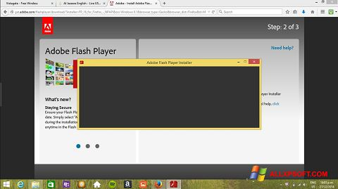 Képernyőkép Adobe Flash Player Windows XP