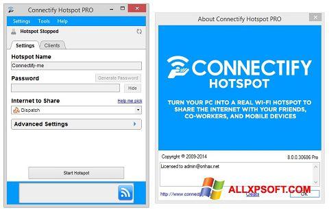 Képernyőkép Connectify Hotspot PRO Windows XP