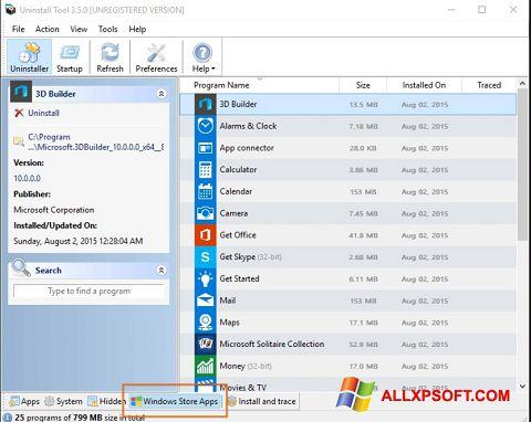 Képernyőkép Uninstall Tool Windows XP