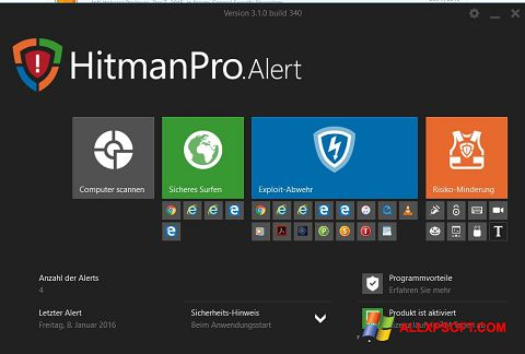 Képernyőkép HitmanPro Windows XP