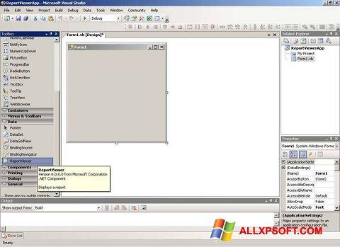 Képernyőkép Microsoft Visual Studio Windows XP