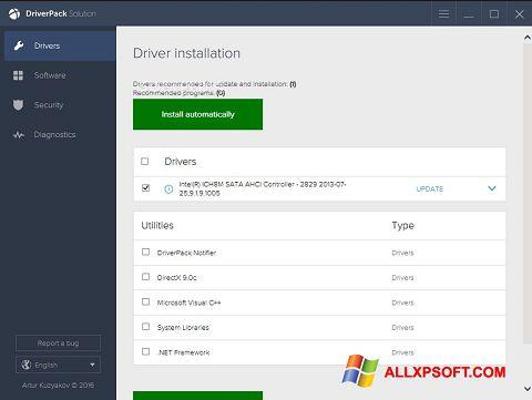 Képernyőkép DriverPack Solution Windows XP