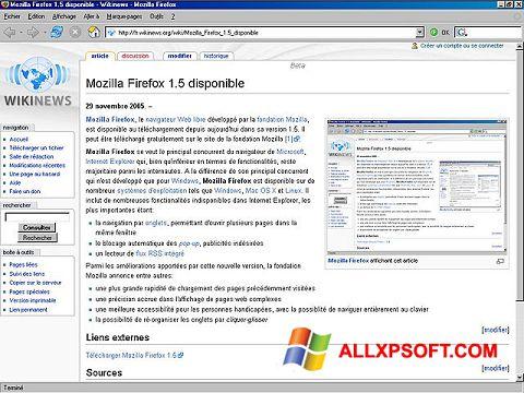 Képernyőkép Mozilla Firefox Windows XP