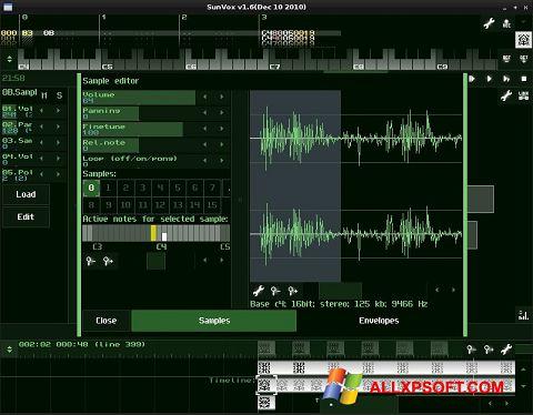 Képernyőkép SunVox Windows XP