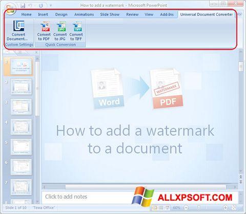 Képernyőkép Microsoft PowerPoint Windows XP