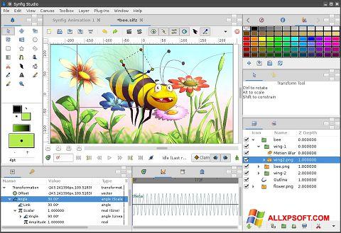 Képernyőkép Synfig Studio Windows XP