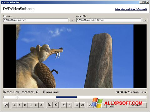 Képernyőkép Free Video Dub Windows XP