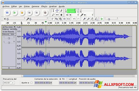 Képernyőkép Audacity Windows XP