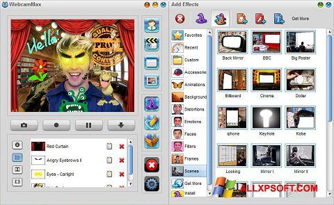 Képernyőkép WebcamMax Windows XP