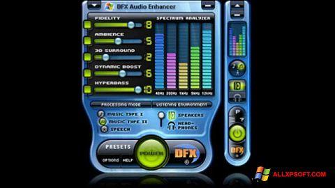 Képernyőkép DFX Audio Enhancer Windows XP