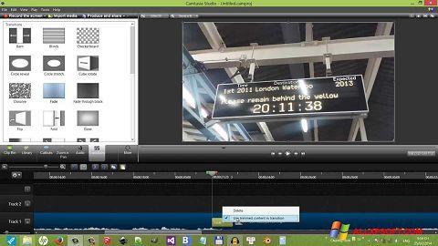 Képernyőkép Camtasia Studio Windows XP