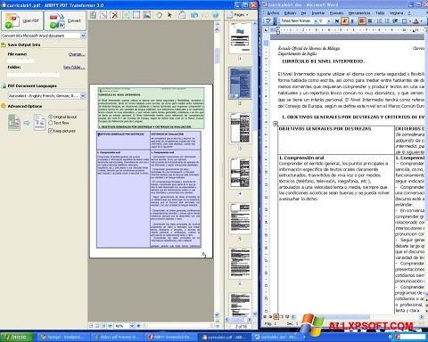 Képernyőkép ABBYY PDF Transformer Windows XP