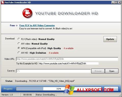 Képernyőkép Youtube Downloader HD Windows XP